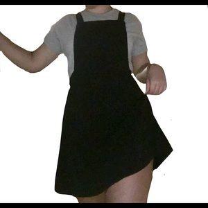 Black ASOS cotton overall dress